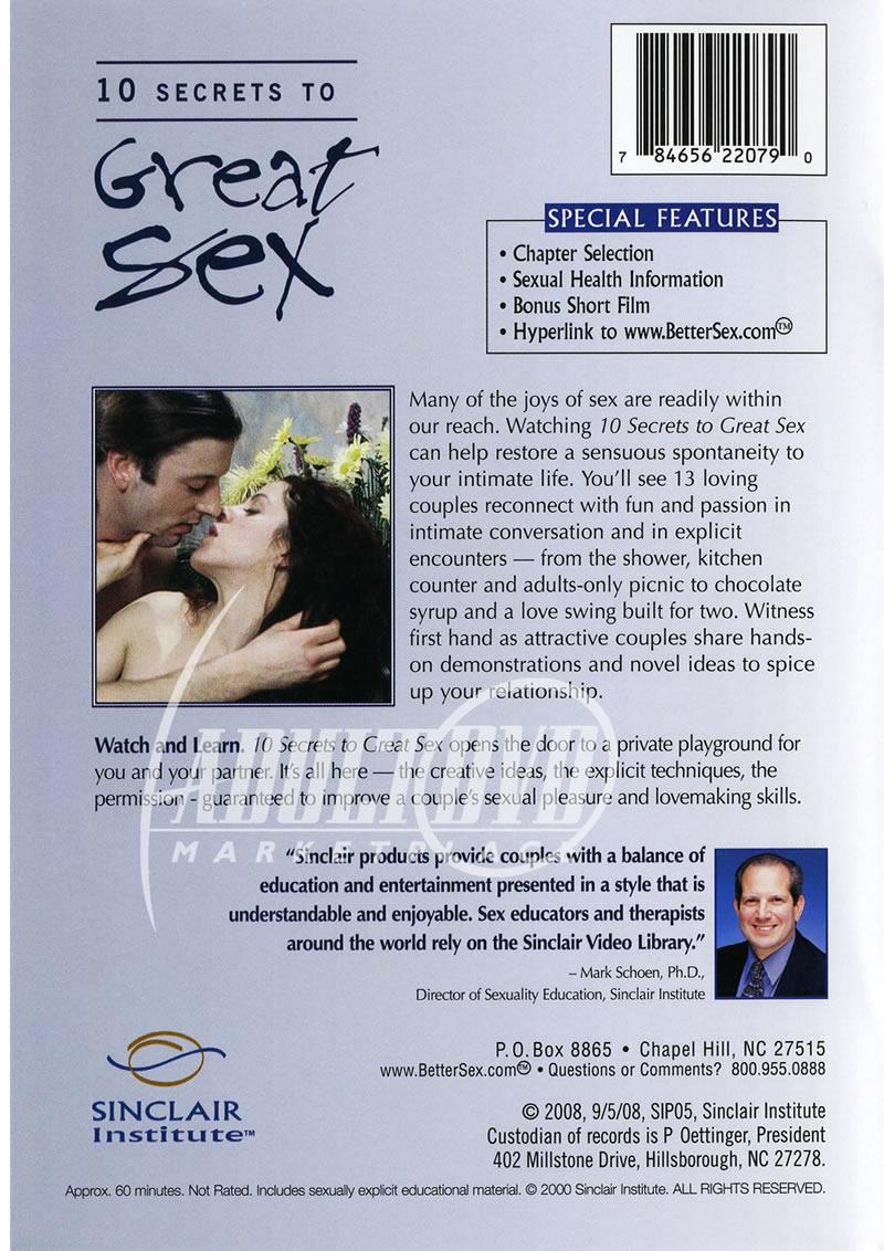 10 secrets to great sex dvd