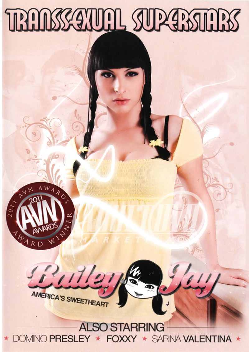 transsexual superstars bailey jay - dvd - shemale club