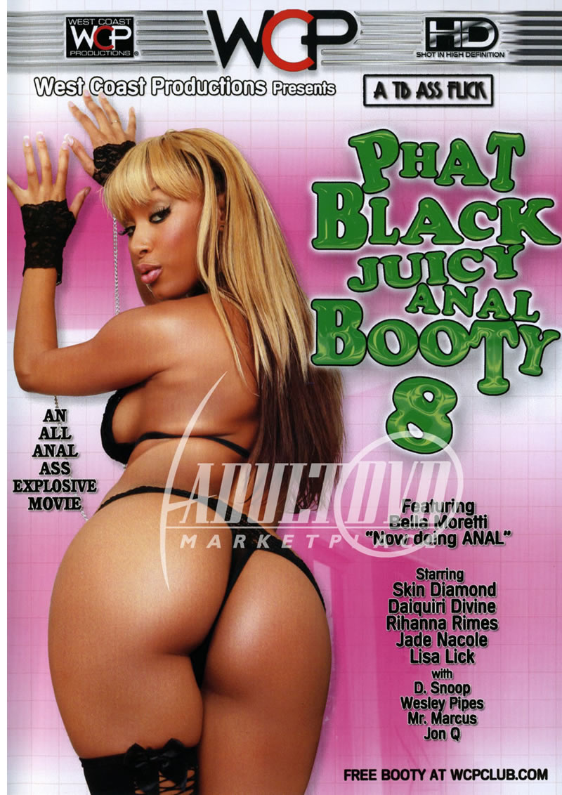 phat black juicy anal booty 8 - dvd - wc productions west coast