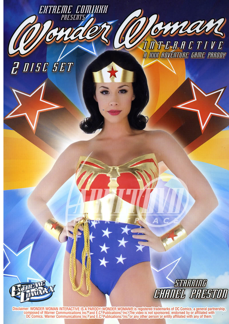 Wonder woman xxx dvd cover are