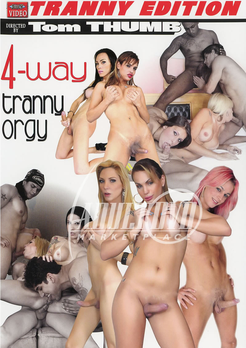 Tranny group orgy