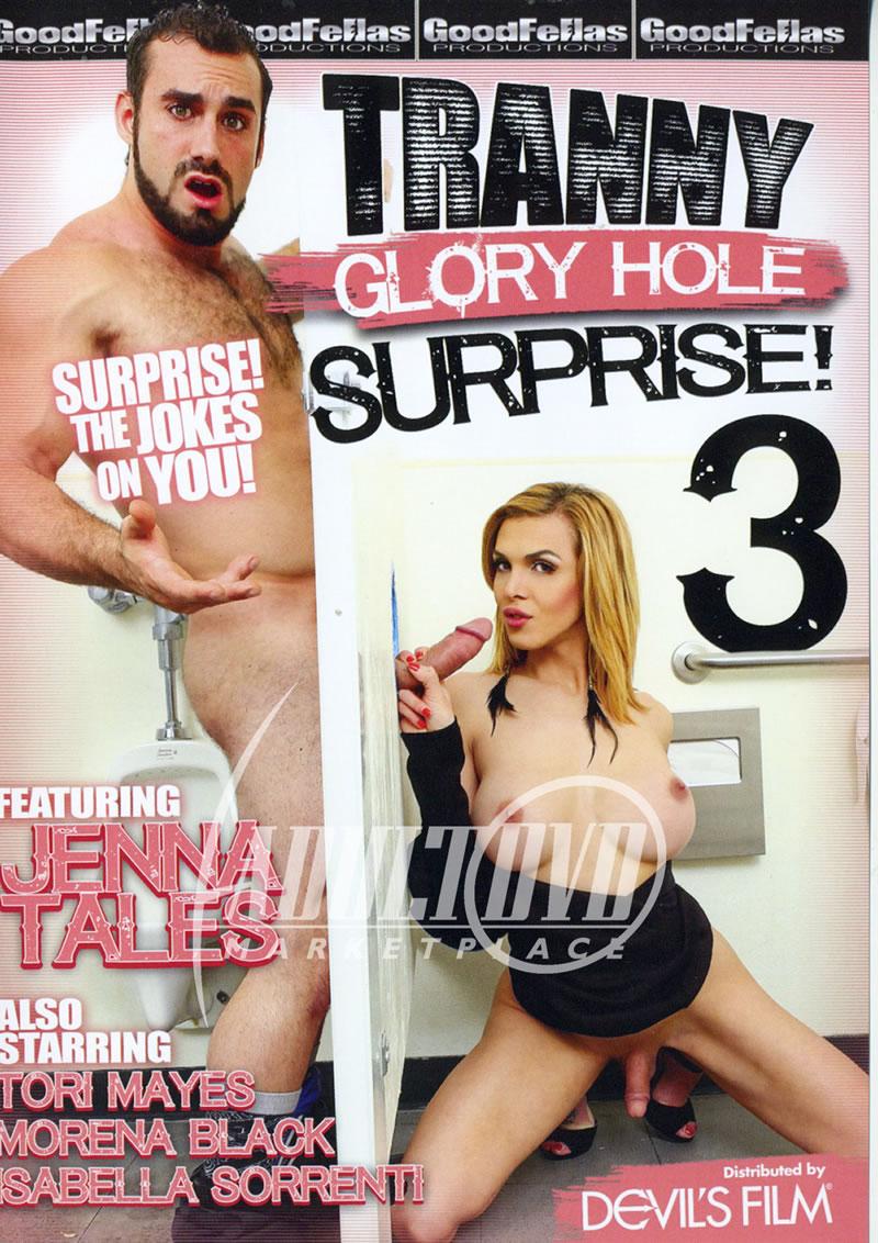 Tranny glory hole surprise